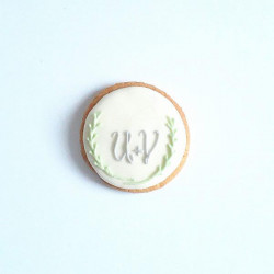 biscuit rond blanc...
