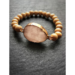 BRACELET WOOD & GEMSTONE...