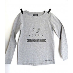 T-shirt Fille à PaPa FOREVER