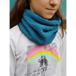 snood bleu Louise