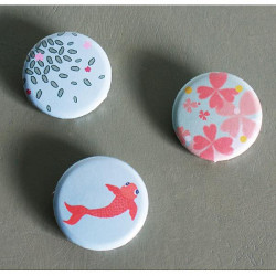 lot de 3 badges pastel