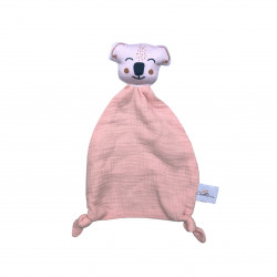 Doudou coloré Koala rose blush