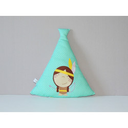 Mini coussin tipi indienne