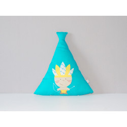 Mini coussin tipi indien