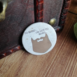 Badge homme to beard or not...