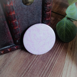 Badge pastel lilas style...