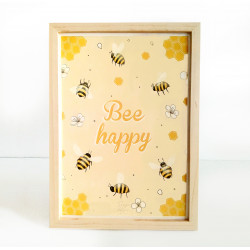 Affiche Bee happy