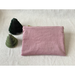 Pochette velours rose