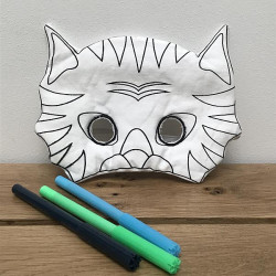 Masque à colorier // Tigre
