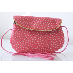 Sac poketto rose pois blanc