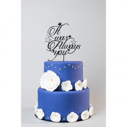 Cake topper mariage 'It was...