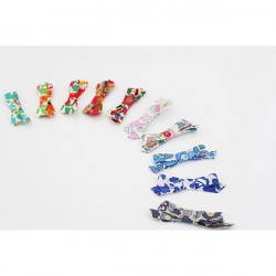 10 Barrettes Noeuds en Liberty Betsy - EN STOCK