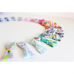 10 Barrettes Noeuds Papillon en Liberty Betsy - EN STOCK