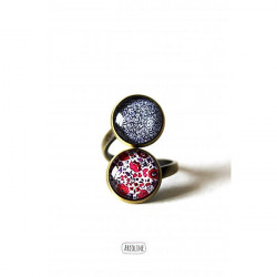 Bague double-cabochon-liberty