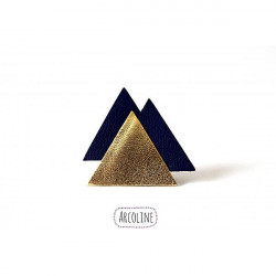 Broche Cuir Triangle Bleu...