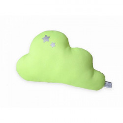 Coussin nuage jersey jaune...