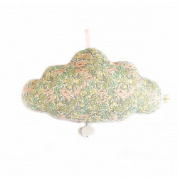 Coussin musical nuage liberty poppy