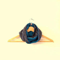 Snood wrap Blue Flower