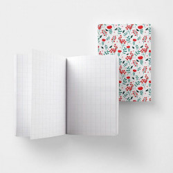 Mini cahier A6'Liberty rouge'